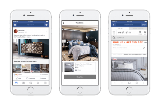 Facebook updates its shoppable Collection ads to mirror print catalogs