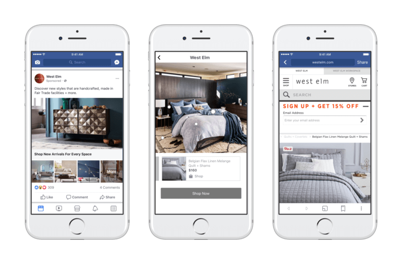 Facebook updates its shoppable Collection ads to mirror print catalogs | DeviceDaily.com