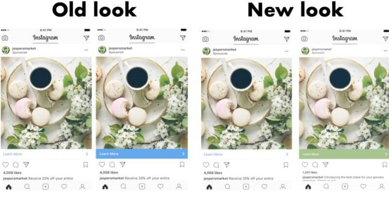 Instagram redesigns call-to-action bar to dynamically mirror ads | DeviceDaily.com