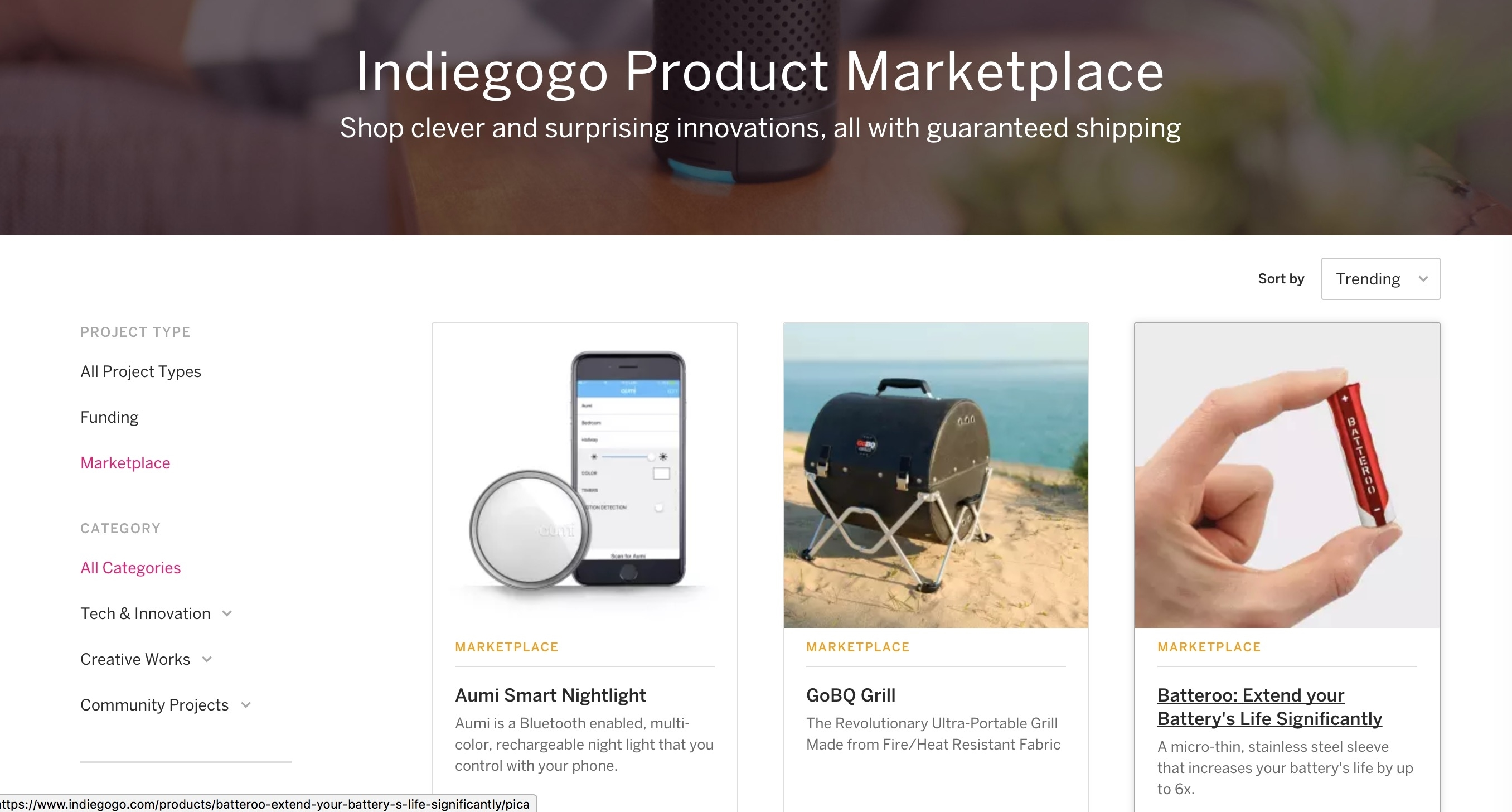 Indiegogo created a marketplace for successfully-funded projects | DeviceDaily.com