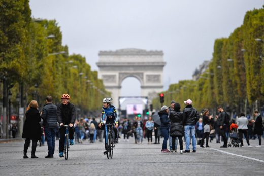 Paris holds a city-wide 'car-free' day