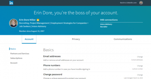 Your LinkedIn Account: Where You're Signed In