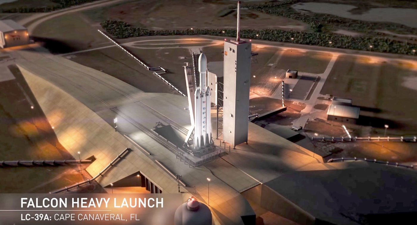 SpaceX's first Falcon Heavy will carry Musk's Tesla Roadster to Mars | DeviceDaily.com
