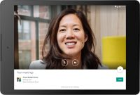 Google's Hangouts Meet video calls are now available on tablets