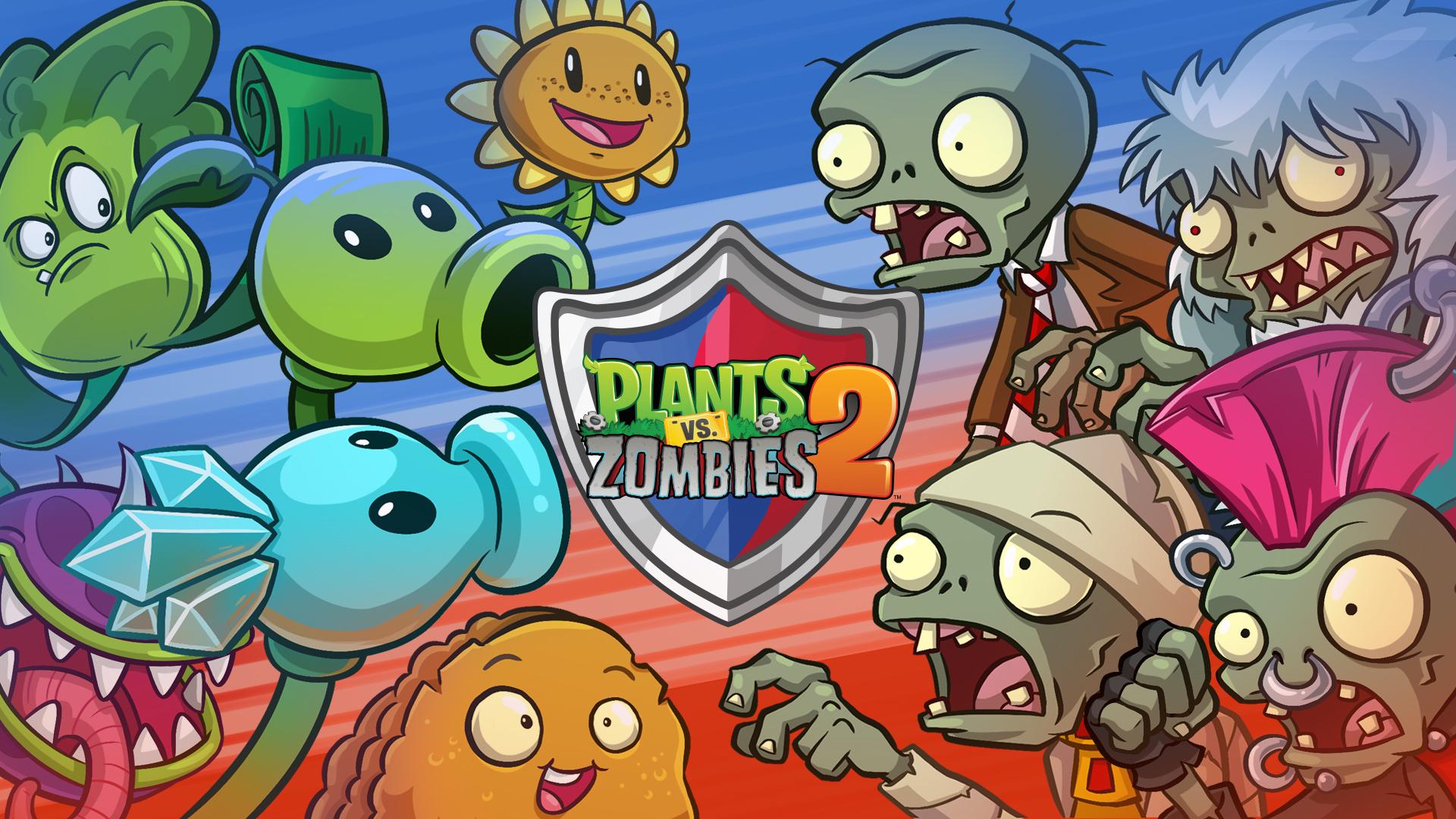 Фото картинки растения против зомби, поздравления днем