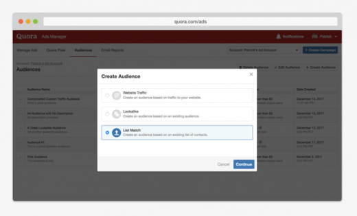 Quora launches List Match Targeting for reaching audiences based on email lists