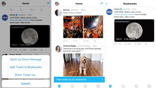 Twitter finally gives us an official way to bookmark tweets