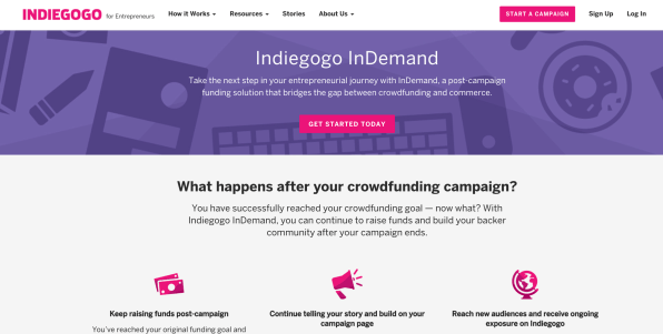Indiegogo Says It's Raised Close To $1.5 Billion For Projects, May Turn A Profit Next Year | DeviceDaily.com