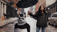 A panda named Genius joins this world to boost a new IMAX movie