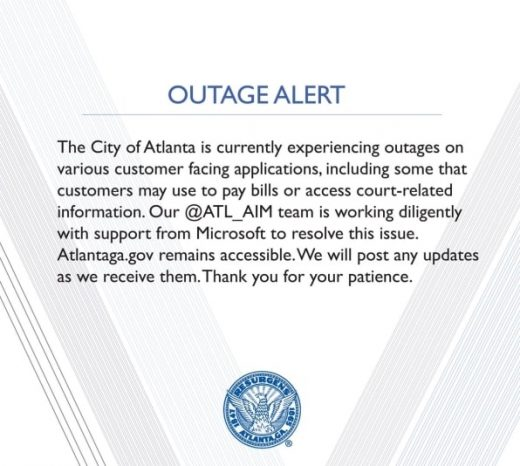 Atlanta mayor cautions public after city computers hit by ransomware
