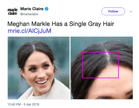 Marie Claire noticed Meghan Markle's gray hair, and people noticed Marie Claire's stupidity | DeviceDaily.com