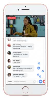 Facebook's 'Premieres' video format will let publishers post prerecorded video as live footage