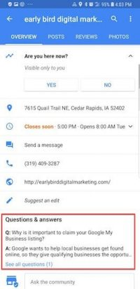 Google My Business Q&A: What you may be missing