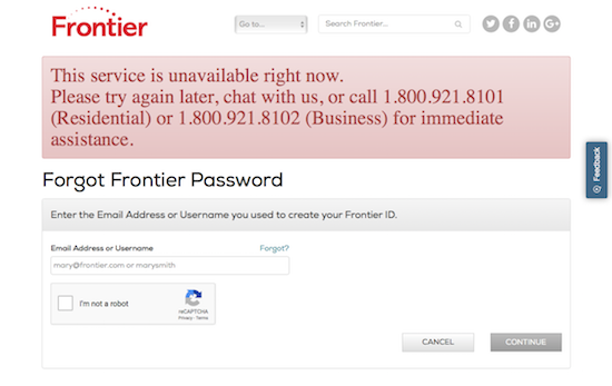 Frontier Communications' password bug lets anyone into your account | DeviceDaily.com