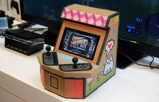 Here's a $20 arcade cabinet made of cardboard and a Switch