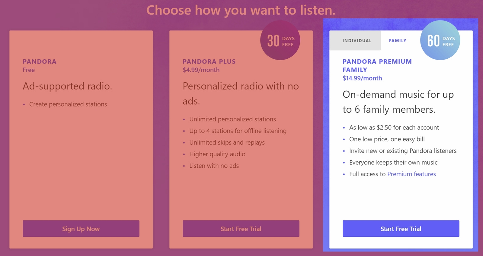 Pandora unveils a $15-a-month unlimited family plan | DeviceDaily.com