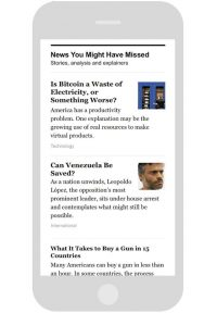 'The New York Times' Uses Machine Learning To Create Personalized Newsletter