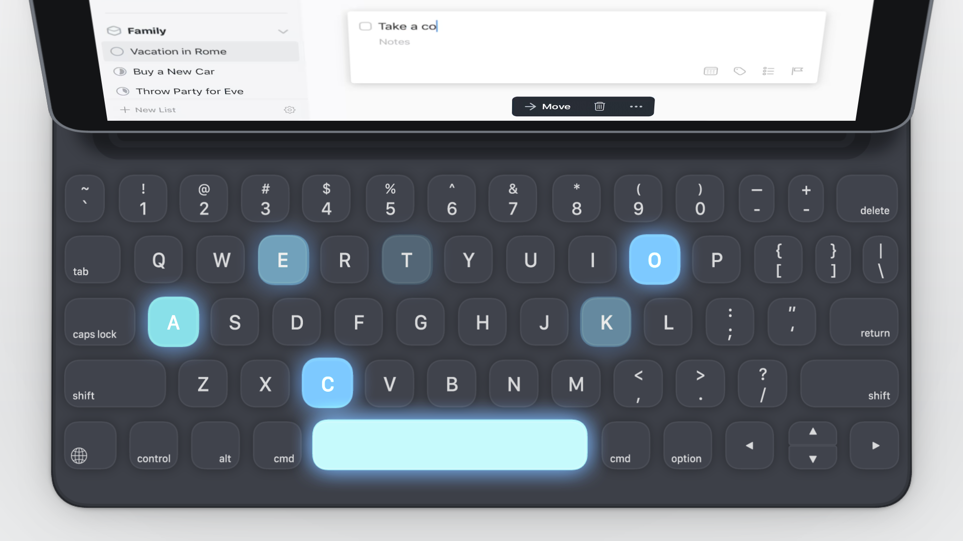 Things to-do app gets a big, keyboard-focused iPad update | DeviceDaily.com