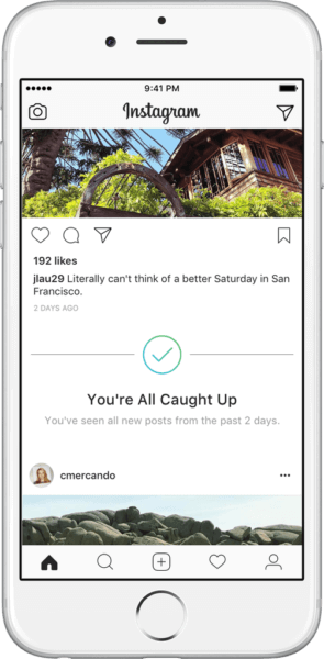 Instagram signs on to the time well spent movement with new 'You're all caught up' notifications