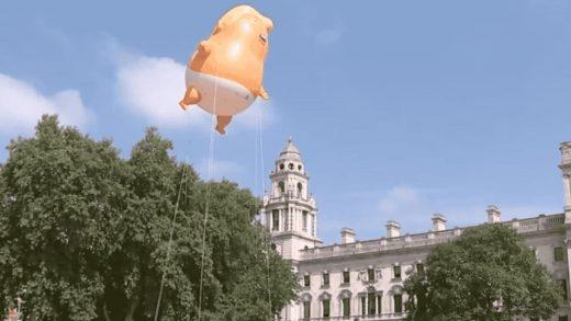 The Trump baby blimp has taken flight over London–watch live!