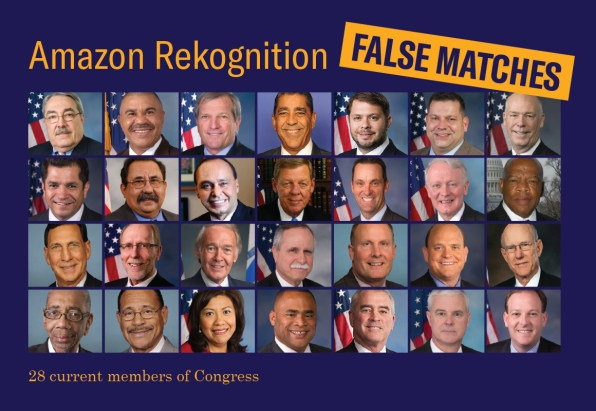 ACLU: Amazon's controversial Rekognition tech mistakes members of Congress for mugshot subjects | DeviceDaily.com