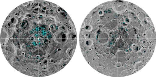 NASA confirms the presence of ice at the moon's poles