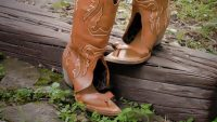 These cowboy boot sandals started as a joke, but they're flying off shelves