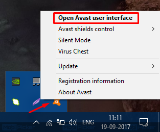 disable avast virus protection