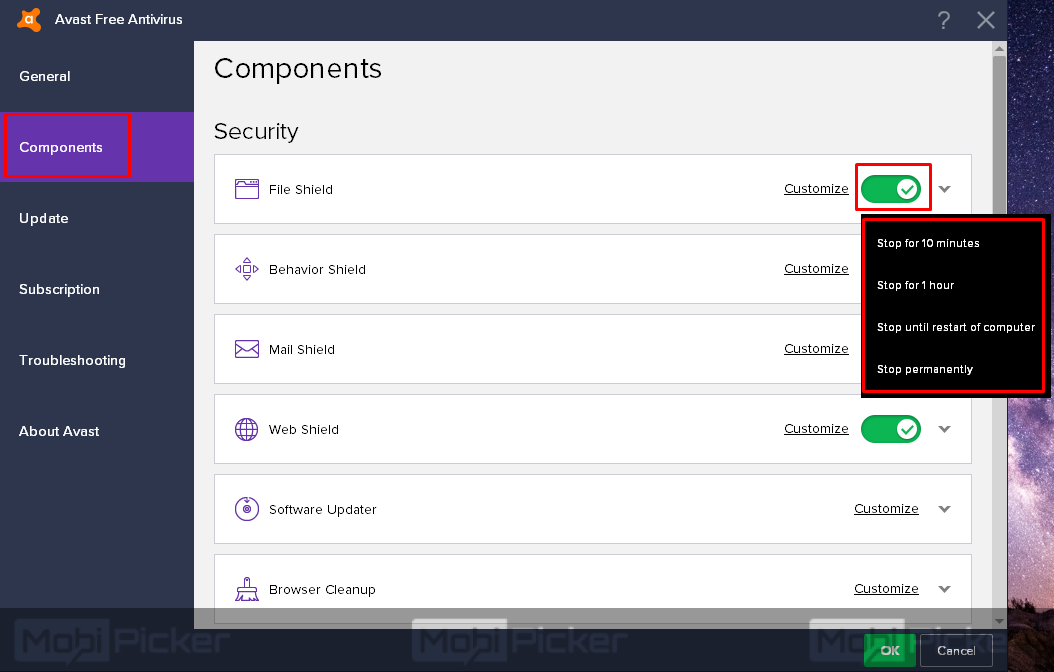 How to Disable Avast Antivirus on Windows and Mac OS