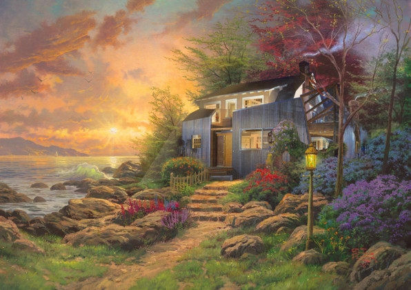 Famous modernist homes get a horrifying Thomas Kinkade makeover | DeviceDaily.com