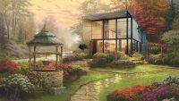 Famous modernist homes get a horrifying Thomas Kinkade makeover
