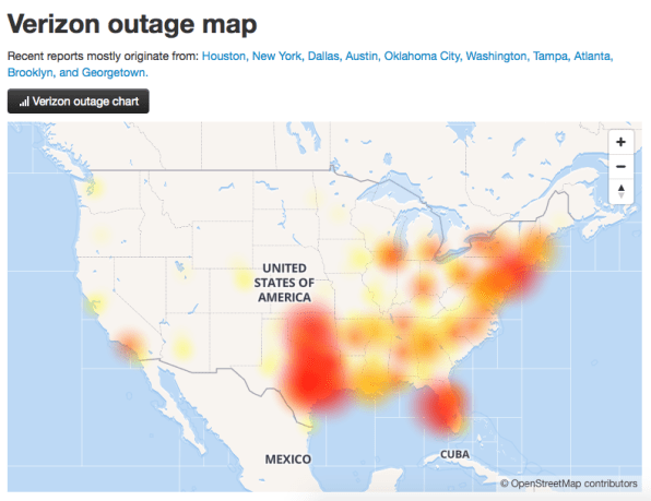 Major Verizon outage plagues wireless customers across the South, Midwest | DeviceDaily.com