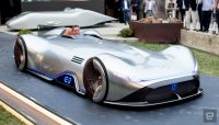The electric Mercedes-Benz EQ Silver Arrow is retro quick