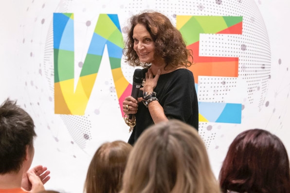 "Diane von Furstenberg boosts women founders in ""Shark Tank""-style pitch competition 