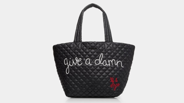 """In the year of women's rage, this """"Give a Damn"""" tote bag is already selling out 