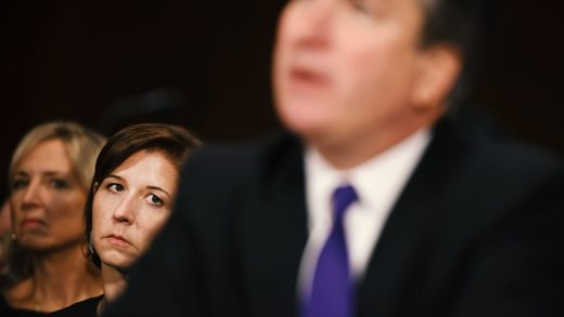 Brett Kavanaugh's entire hearing performance in one image