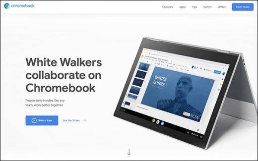 Google Ad Shows How Night King From 'Game Of Thrones' Uses Chromebook