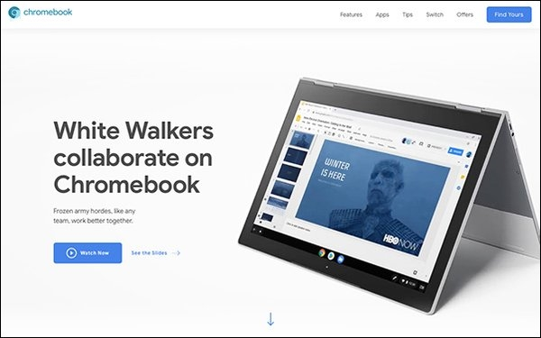 Google Ad Shows How Night King From 'Game Of Thrones' Uses Chromebook | DeviceDaily.com