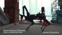 Spot demo video shows a Boston Dynamics robot at work