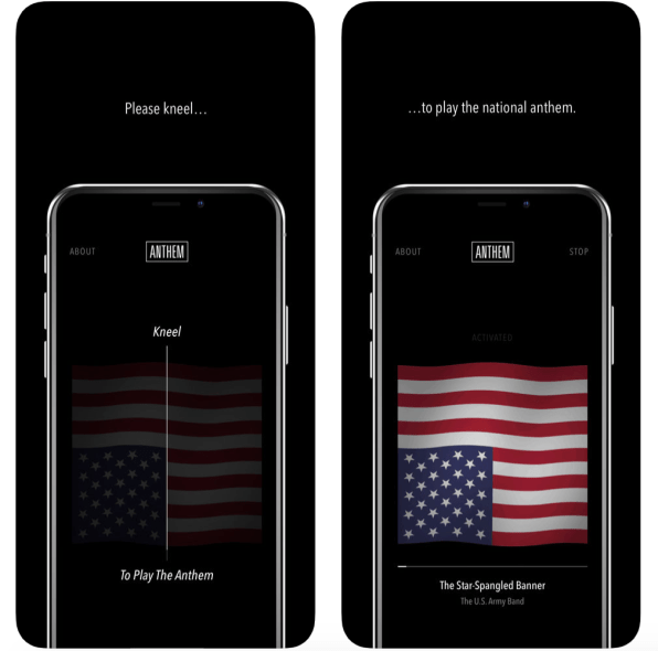 This app lets you take a knee during the anthem in the comfort of your own home | DeviceDaily.com