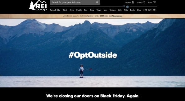 How REI is keeping the #OptOutside magic alive on Black Friday | DeviceDaily.com