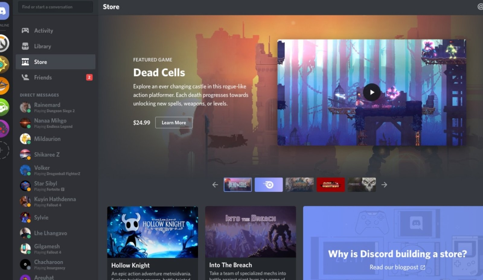 Discord now offers early access games on its PC store | DeviceDaily.com