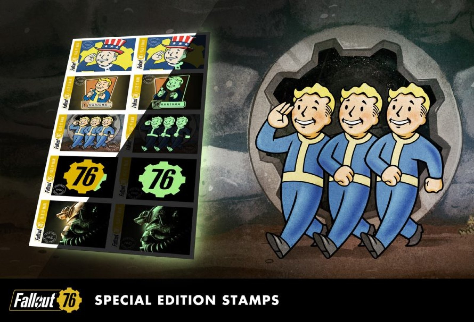 'Fallout 76' gets glow-in-the-dark postage stamps in the UK and Europe | DeviceDaily.com