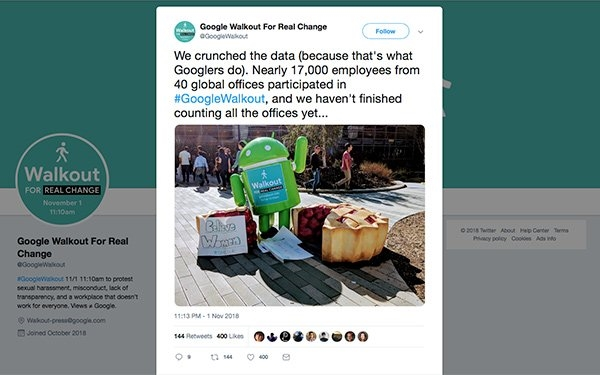 Google Worldwide Walkout: What Organizers Demand | DeviceDaily.com