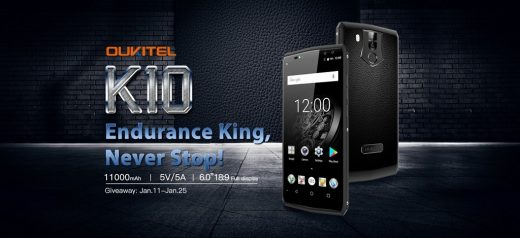 OUKITEL K10 Giveaway: Here is How to Get the Phone with 11000mAh Battery for Free