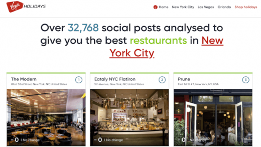 Virgin Holidays powers travel recommendations with social posts