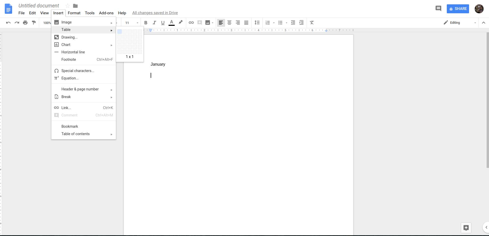 Google Docs Insert Table | DeviceDaily.com