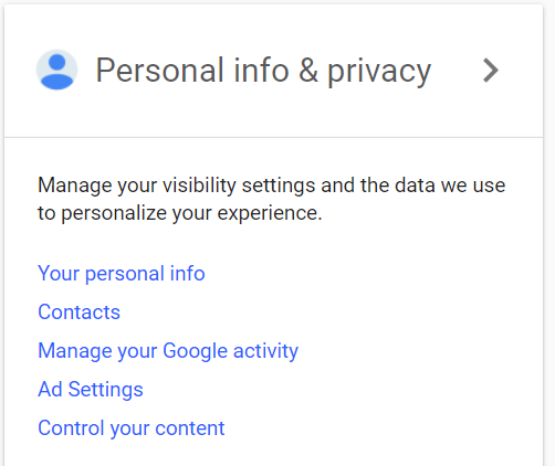 Content in a Google account | DeviceDaily.com