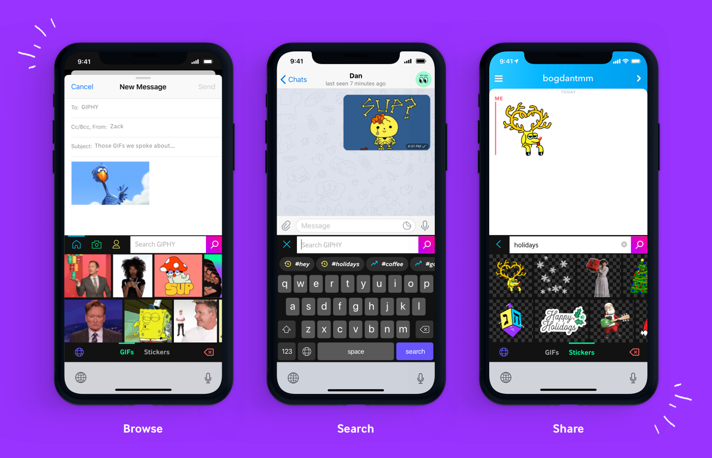 Giphy offers easy access to GIFs with iOS keyboard extension | DeviceDaily.com
