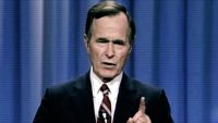Watch the 53-second viral moment that helped George H. W. Bush win in 1988